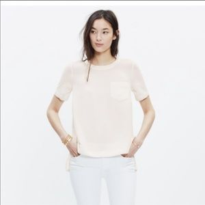 Madewell industry button-back top